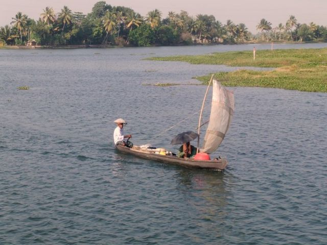 Backwaters du Kerala en Inde