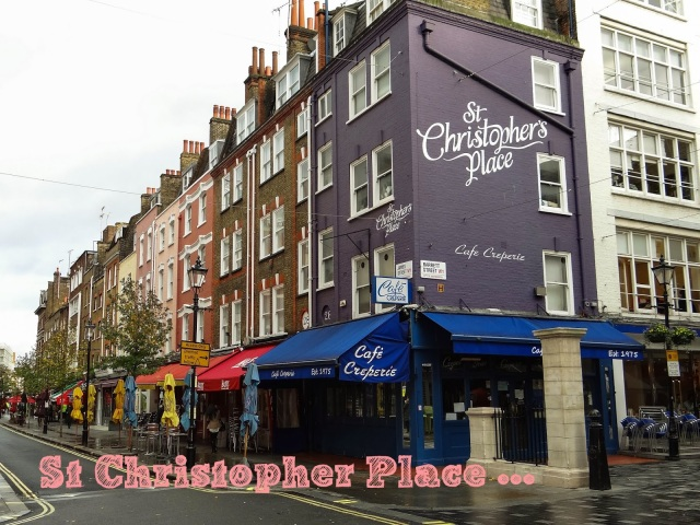 St Christopher Place Londres insolite