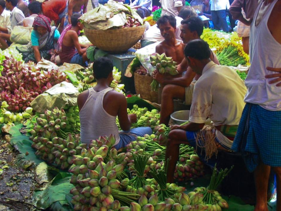 06052002-Marchands de fleurs 2 Kolkata